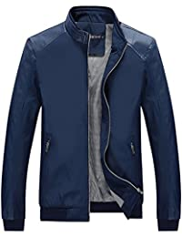 Men's Color Block Slim Casual Thin Lightweight Jacket