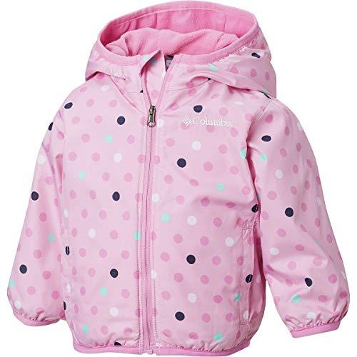 Mini Columbia Toddler - Columbia Kids Baby Girl's Mini Pixel Grabber¿ II Wind Jacket (Infant/Toddler) Pink Clover Polkadot 4T
