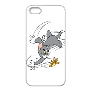 Tom and Jerry iPhone 5 5s Cell Phone Case-White Yattf