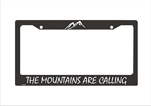 The Mountains Are Calling License Plate Frame License PlateMts02| Mountains License Plate Holder Hiking Adventure License Plate