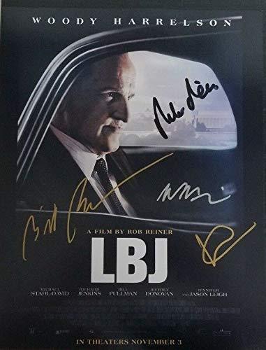 LBJ Cast Members 4 x Hand Signed 11x14 Movie Poster Photo Autograph World W/COA