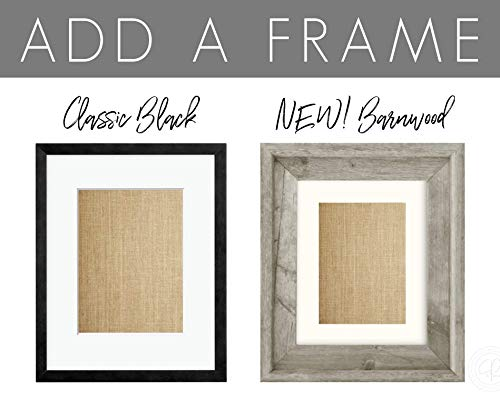 ADD A FRAME | Add to Your Cart with Any Print! Black Wood Frame or Farmhouse Style Barnwood Frame (Frame ONLY!)