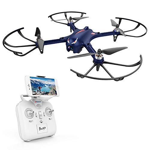 - DROCON Bugs 3 Powerful Brushless Motor Quadcopter Drone for Adults and Hobbyilists, High Speed Flying Gopro Drone, Suport Gopro HD Camera 4K Camera, 18Min Flying Time  300 Meters Long Control Range