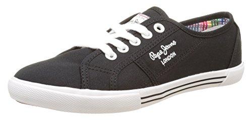 Basic Jeans Pepe black Sneakers Basses Femme Noir 17 Aberlady q6p6BT