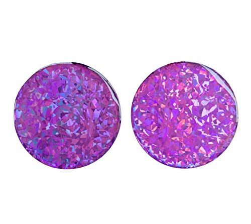 (Domed Round Purple Reflective Decals Circle Violet Glitter Night Gloss 3D Gel Rear Resin Motorcycle Sticker Badge Reflector Bike Bicycle Car Helmet Trunk Tailgate Self Adhesive)