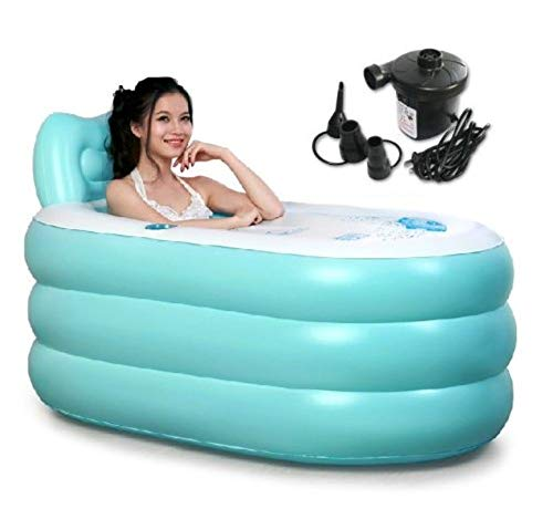 Back to 20s Adult Inflatable Bath Tub (Blue, Large)]()