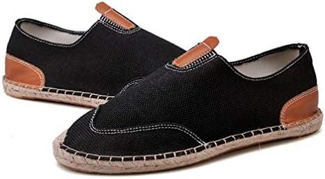 スリッポン キャンバス シューズ メンズ カジュアル ローファー ローカット エスパ 滑り止め 履き脱ぎやすい 通学 海辺 私服 職場用 事務所 通気抜群 蒸れない 夏 布靴 かっこいい 黒 麻靴 ジョギング
