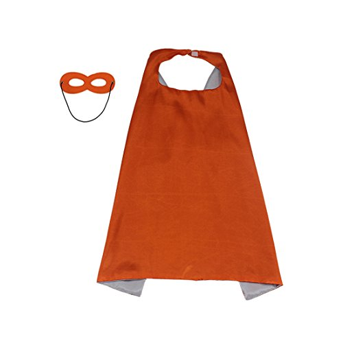 90cm x 70cm Superhero Kids Girl Boy Cape and Mask Costume for Child, (Halloween 90)