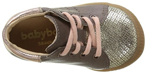 babybotte Baby Mädchen Fasty Sneaker Marron (Taupe/Orange Pêche)