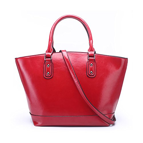 Handbags Red In Pu For Design Bags Leather Crossbody Tote Shoulder Dark Vintage Large Sdinaz Women Bag R5qRg