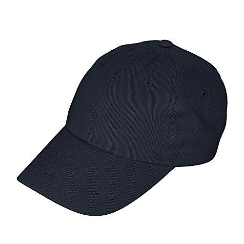 DALIX Unisex Youth Childrens Cotton Cap Adjustable Plain Hat - Unstructured (Navy Blue)