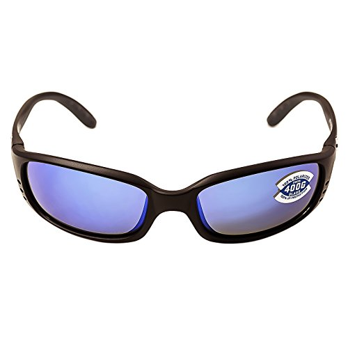 Costa Del Mar Sunglasses - Brine- Glass / Frame: Black Lens: Polarized Blue Mirror Wave 400 - Discounted Sunglasses