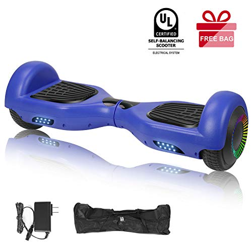 "EPCTEK 6.5"" Hoverboard, Two Wheel Self Balancing Hoverboard with LED Light Free Carry Bag - UL2272 Certified Hover Board for Adults Kids"
