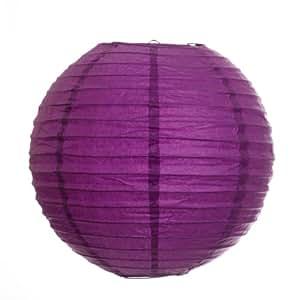 Koyal 12-Inch Paper Lantern, Plum Purple, Set of 6
