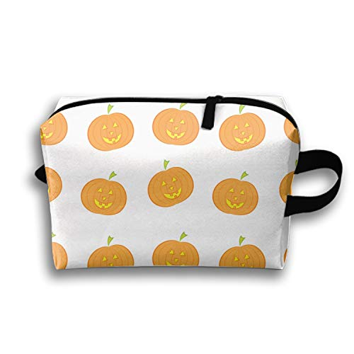 PANQJN Halloween Pumpkin Cosmetic Multi-Function Storage Travel Organizer Pouch Makeup Toiletry Bag Women -