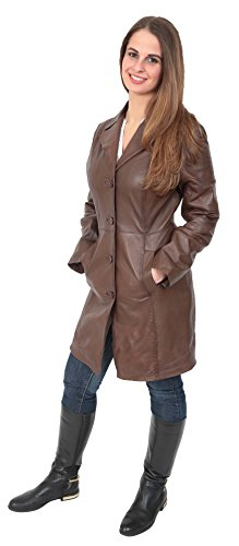 Classic 3/4 Length Leather Coats - 3