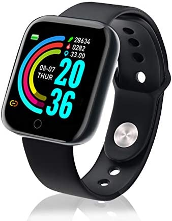 Smart Watch,1.3 Inch Fitness Tracker with HR Monitor, Sleep Tracker, Stopwatch, IP65 Waterproof Fitness Watch Works with iOS, Android for Men, Women-Black