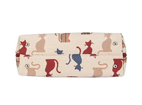 Malicieux Chat toile tapisserie Signare d'épaule convertible Femme Sac Mode en O8OZwHzq