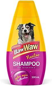 Baw Waw Shampoo para Cães Neutro 500 ml, Amarelo