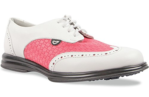 Sandbaggers Charlie Women's Golf Shoes (Fuchsia, 9) by Sandbaggers