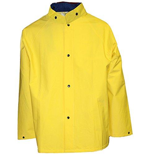 """COMFORT-TUFF C53217.2X 48"""" Coat with Detachable Hood, Size 2X, Yellow"""