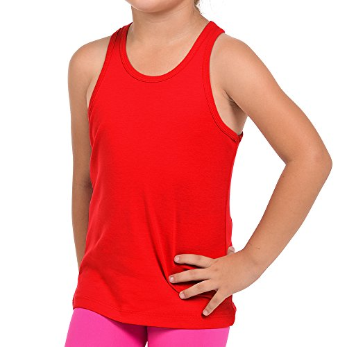 FRESH TEE Girls' Racer Back Tank Top Tunic (Girl 5/6, -