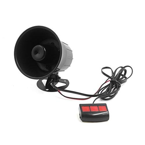 uxcell 12V 15W Car 3 Tone Air Horn Loudspeaker Annunciator W Remote Control Unit