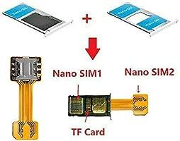 akaddy Doble Tarjeta SIM Dual para Micro TF Adaptador para Android Extender 2 Nano Adaptador Micro SIM
