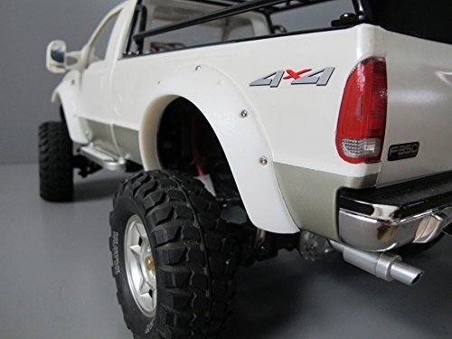 (White Rubber Fender Flares Guard Protector Set for Tamiya RC 1/10 Ford F350 High)