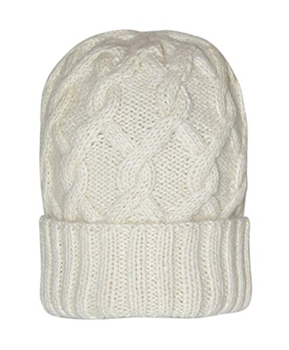 d73f863b22840 Invisible World Women s 100% Alpaca Wool Hat Knit Winter Beanie Snake Cable  White Cap by