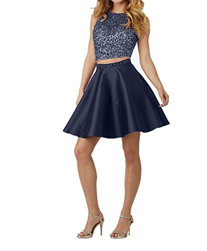 Charmant Kurz Pailletten Navy Blau Kleider Damen Jugendweihe Ballkleid Kleider Abendkleider Damen Blau Royal mit Festliche SrIrZAxqF