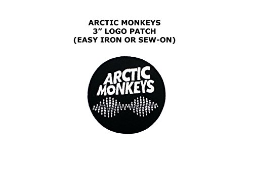 [Arctic Monkey Band Rock Music Embroidered Iron/Sew-on Comics Cartoon Theme Logo Patch/Applique] (Easy Male Villain Costumes)
