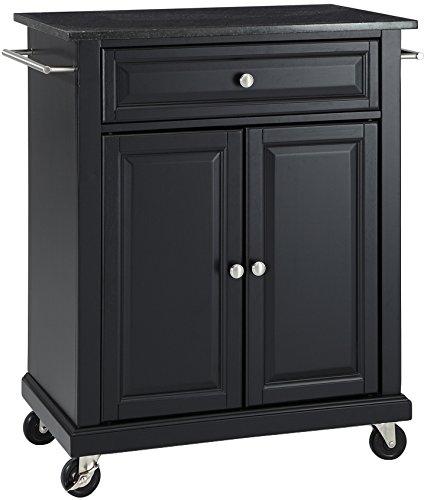 Crosley Furniture Cuisine Kitchen Island with Solid Black Granite Top - (Large Black Granite Top)