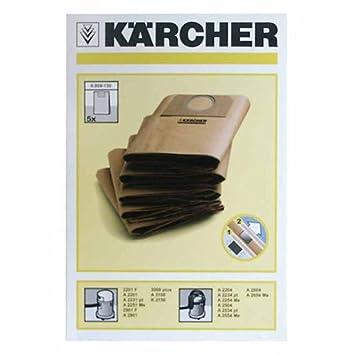Karcher 69591300 A2204 A2234PT A2534 bolsas al vacío para ...