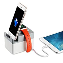 Apple Watch Charging Station, Fleck 3 Ports Multi-functional Detachable Charging Station for Apple Watch/Apple Watch Sport (38mm& 42mm)/Fitbit Blaze/Fitbit Surge/Fitbit Charge HR, iPhone7/ iPhone 7 Plus and more