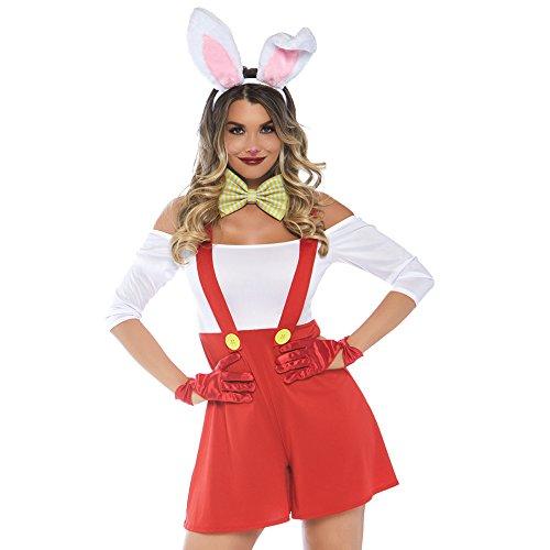 Leg Avenue Womens Darling Doodle Bunny Halloween Costume, Multi Small/Medium ()