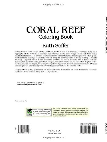 Coral Reef Coloring Book (Dover Nature Coloring Book): Ruth Soffer ...