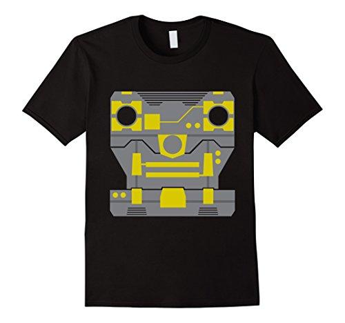 Mens Cool 80s Robot Halloween Costume T-Shirt 3XL Black