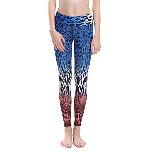 Pantalon De Yoga Leggings Imprimé Léopard Numérique Yoga Pantalon De Yoga Actif Leggings Stretch Stretch Pantalons De Sport En Cours D'exécution