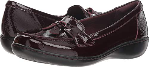 (CLARKS Women's Ashland Bubble Burgundy Patent Leather 8.5 Wide US)