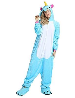 LATH.PIN Unicorn Costume Adult Onesie Cosplay Animal Pajamas Christmas Kigurumi