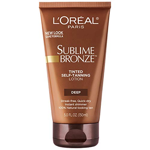 - L'Oreal Paris Sublime Bronze Tinted Self-Tanning Lotion Deep Natural Tan 5 fl. oz.