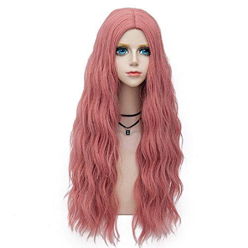 Probeauty Miracle &Forest Lady Collection Heat Resistant Synthetic Wigs Long Curly Women Cosplay Wig (70cm, Ash Pink F28) -
