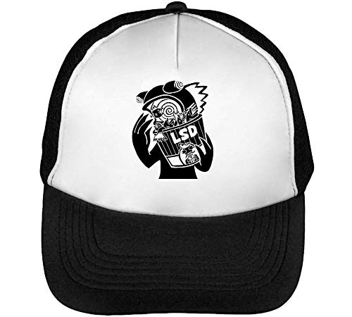 Bucket Snapback Black Blanco Lsd Gorras Negro Beisbol Hombre q1RxHvnHd
