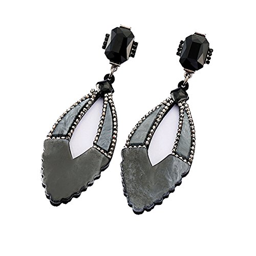 tro Hot 3 Lot Colorful Acrylic Earring Grey ()