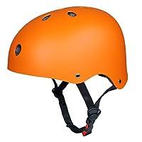 Upgraded SymbolLife Skate/ Skateboarding Helmet, Ultimate Adjustable ABS Shell Helmet for Cycling /Skateboard/Scooter/ Skate Inline Skating /Rollerblading Protective Gear Suitable for Kid/Youth/Adult, Large Orange