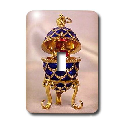 - 3dRose lsp_3148_1 Picturing Pinecone Faberge Egg Single Toggle Switch