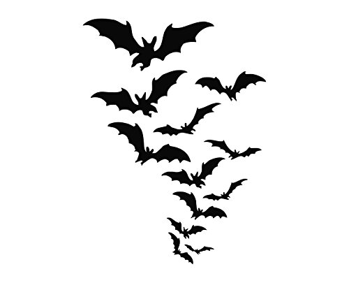 (Flying Bats (05) Die Cut Vinyl Decal)