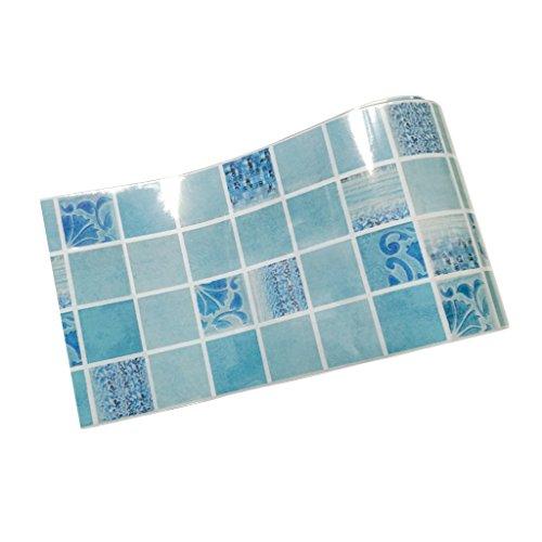 MagiDeal Rollo de Papel Pegatina de Pared Adhesivo Extraíble Mosaico de Azulejos de Baño Cocina - F