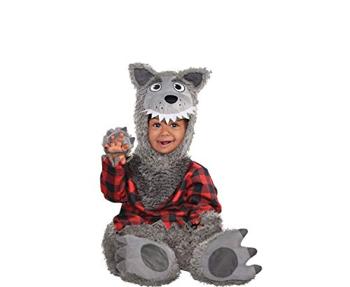 AMSCAN Baby Wolf Halloween Costume for Infants, 0-6 Months, with Included Accessories